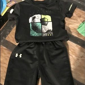 Infants size 6-9 months Under Armor outfit.